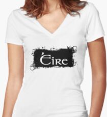 Eire - Ireland Fitted V-Neck T-Shirt
