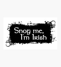 Snog Me, I'm Irish Photographic Print