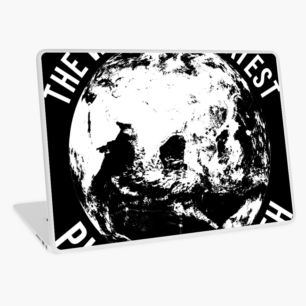 Worlds Greates Planet On Earth  T-Shirt Geschenk Laptop Folie