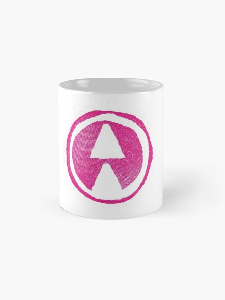 Alternative Ansicht von Ozeane über Alderaan - rosafarbenes Logo Tassen