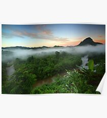 Sunrise at Rainforest-South Borneo Poster