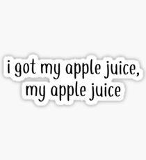 Apple Juice- Daniel Seavey wdw Sticker