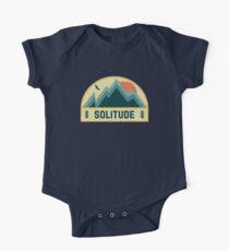 Einsamkeit Retro Berg Abzeichen Baby Body Kurzarm
