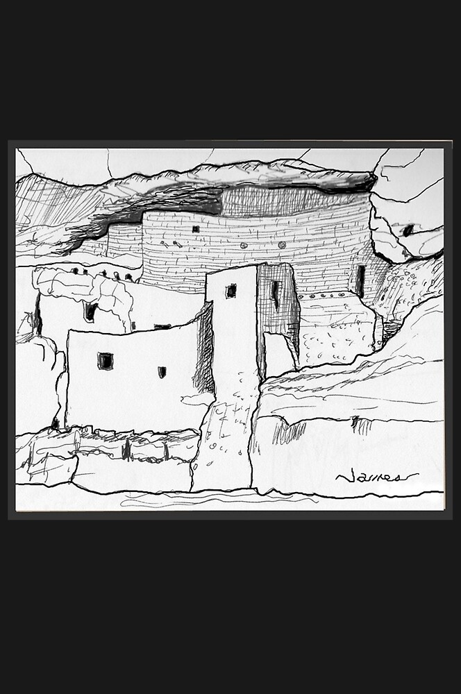 Arizona Cliff Dwelling by James Lewis Hamilton