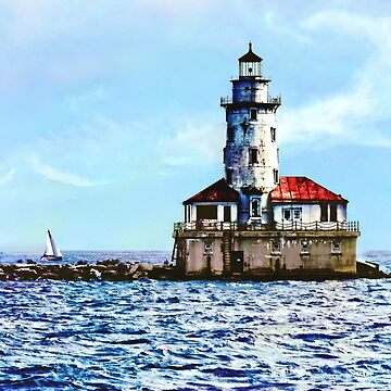 Chicago IL - Chicago Harbor Light by SudaP0408
