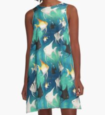 Angelfish Pattern A-Line Dress