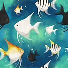 Angelfish Pattern by tanyadraws