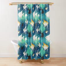 Angelfish Pattern Shower Curtain