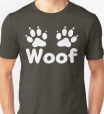 Woof Dog Paws (Dark) T-Shirt
