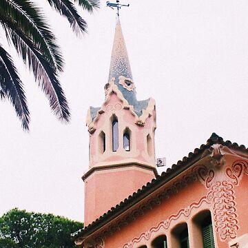 Vintage Pink Church by AlexandraStr