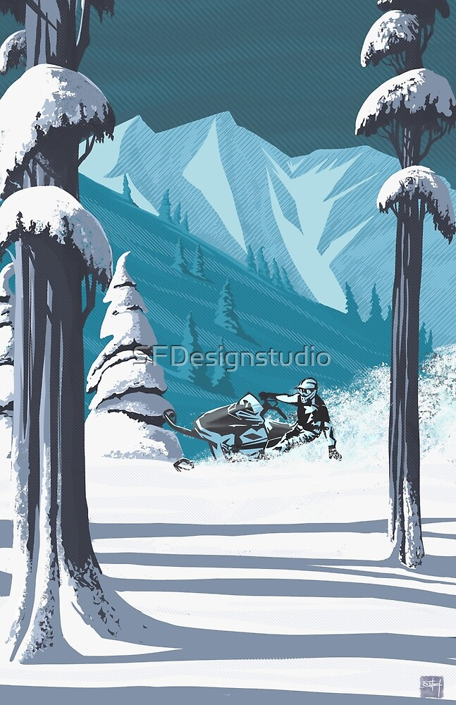 «Motonieve en el país de las maravillas» de SFDesignstudio