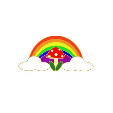 rainbow shrooms by bkidesigns