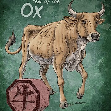 Year of the Ox (for dark shirts) by stephsmith