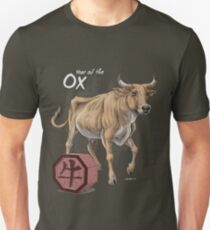 Year of the Ox (for dark shirts) Slim Fit T-Shirt