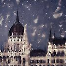 Budapest in the Rain by BethsdaleArt