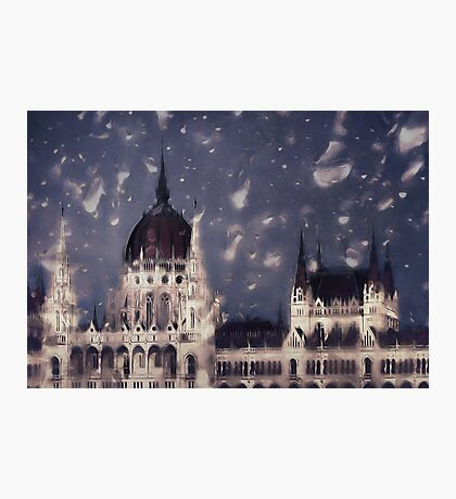 Budapest in the Rain Photographic Print