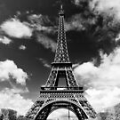 The crowd around the Eiffel Tower - Paris, France by Norman Repacholi