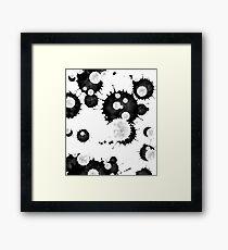 Black Ink Framed Print