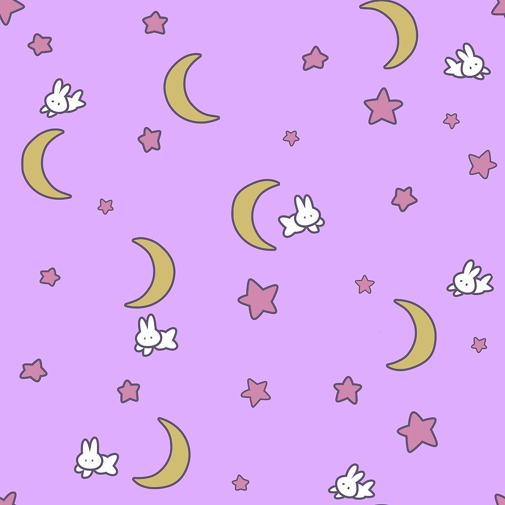 "Sailor Moon inspired Bunny of the Moon Bedspread Blanket Print"" by ..."