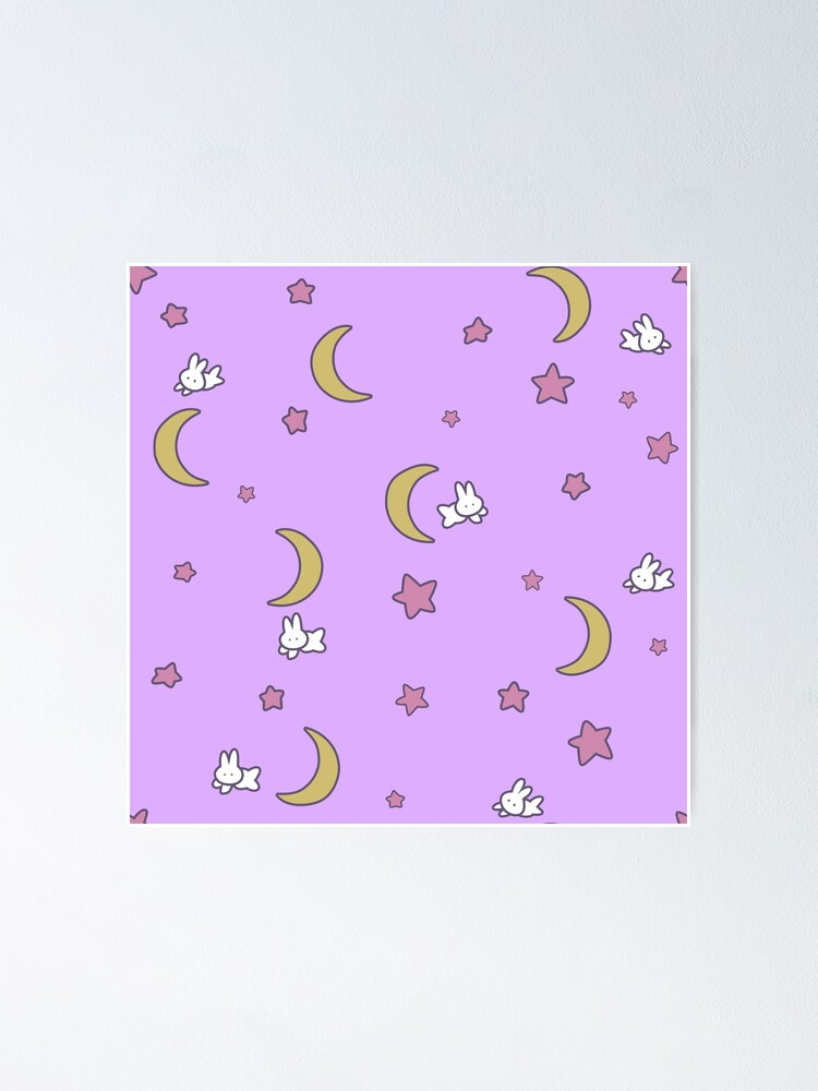 Alternate view of Sailor Moon inspired Bunny of the Moon Bedspread Blanket Print Poster