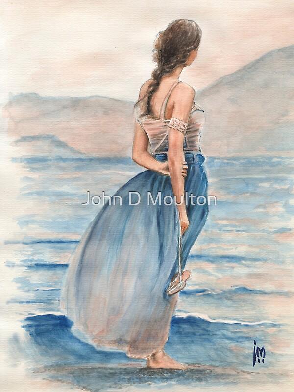 Evening Light Water Colour Painting by John D Moulton