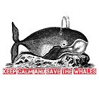 Keep calm and save the whales by Victor Durden