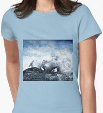 Seagulls on the rocks T-Shirt