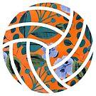 orange floraler Volleyball von sluggishsloth