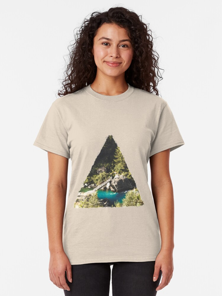 Alternate view of Mallero Mountain River - Lombardia - Italy Classic T-Shirt