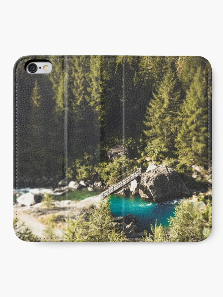 Alternate view of Mallero Mountain River - Lombardia - Italy iPhone Wallet