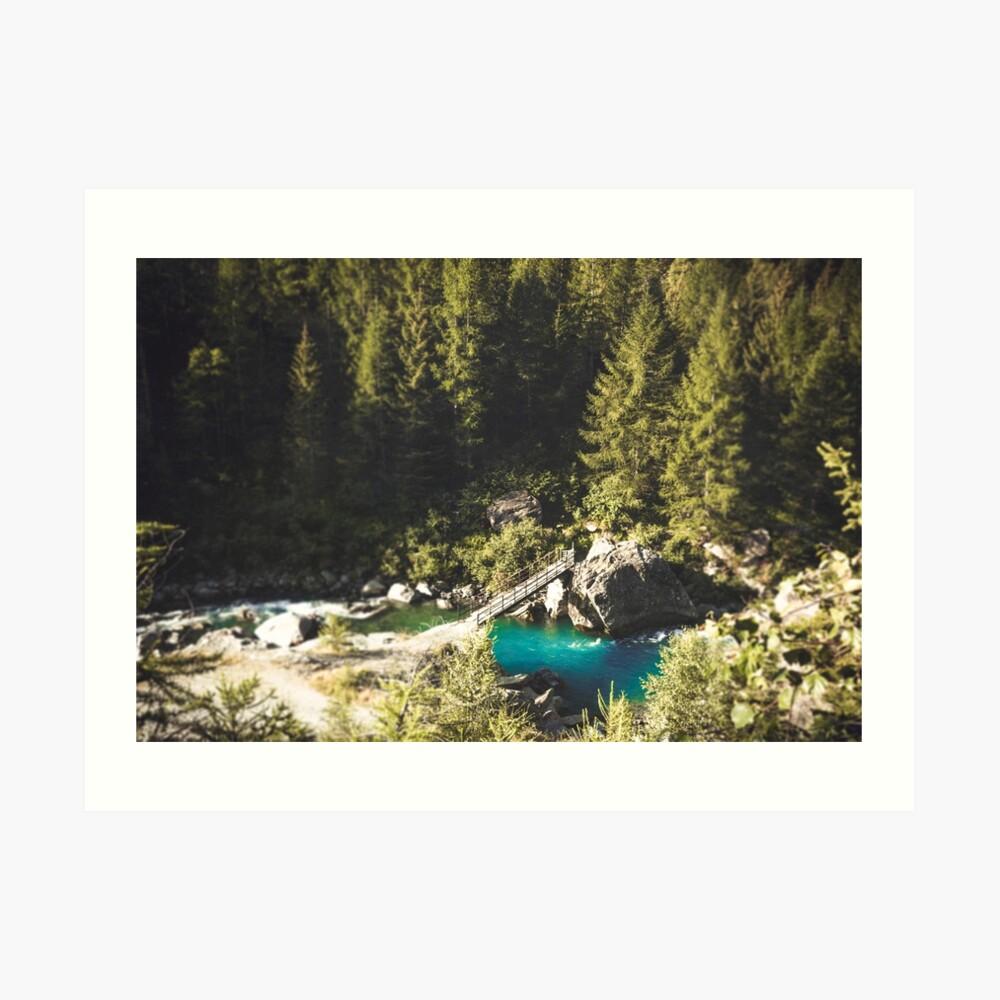 Mallero Mountain River - Lombardia - Italy Art Print