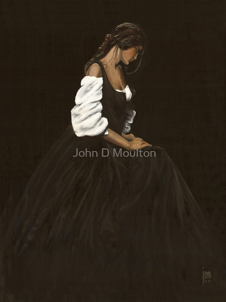 """Laetitia"" Oil on Canvas by John D Moulton"