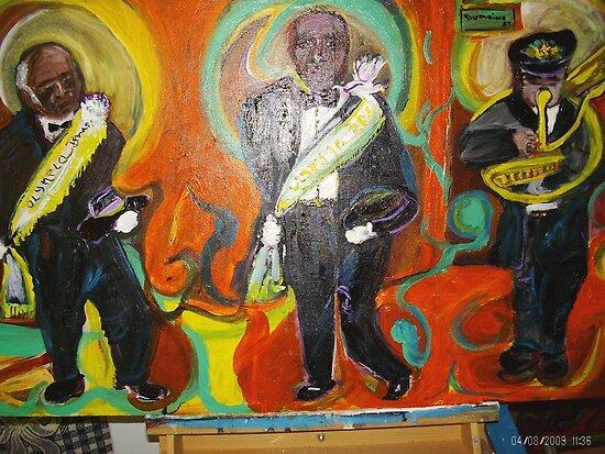 Three Saints by Barbara  Mangum-McElveen