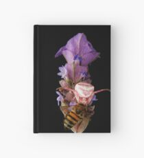 Pink crab spider feeding on a bee   (Thomisus. spe. ) Hardcover Journal