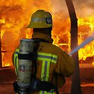 LA CoFD E44 working a training fire by chibiphoto