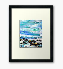 A Stormy Shore Framed Print
