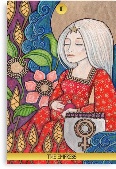 III The Empress Tarot Card by Lynnette Shelley