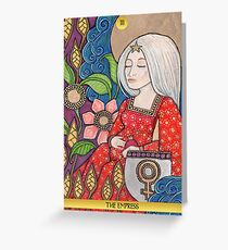 III The Empress Tarot Card Greeting Card