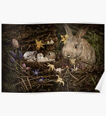 Mrs. Cottontail And The Kids Poster