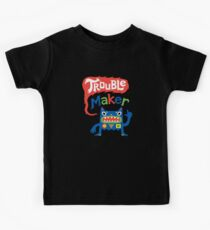 Trouble Maker - dark Kids Tee