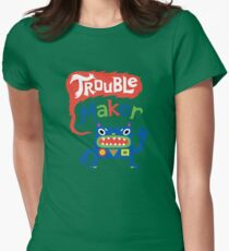 Trouble Maker - dark Women's Fitted T-Shirt