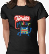 Trouble Maker - dark Womens Fitted T-Shirt