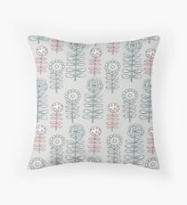 retroflora  Throw Pillow