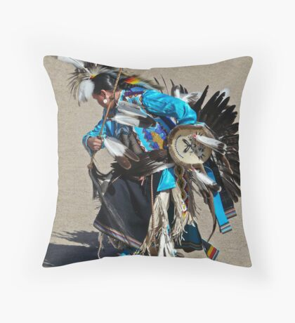 Blue Dancer Throw Pillow