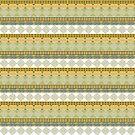 Ethnic Stripes African Traditional Geometric by Stellagala