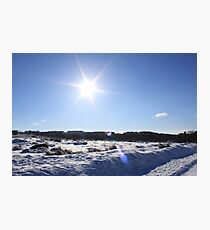 Sunny snow day in the Peak District Photographic Print