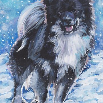 Icelandic Sheepdog Fine Art Painting by lashepard