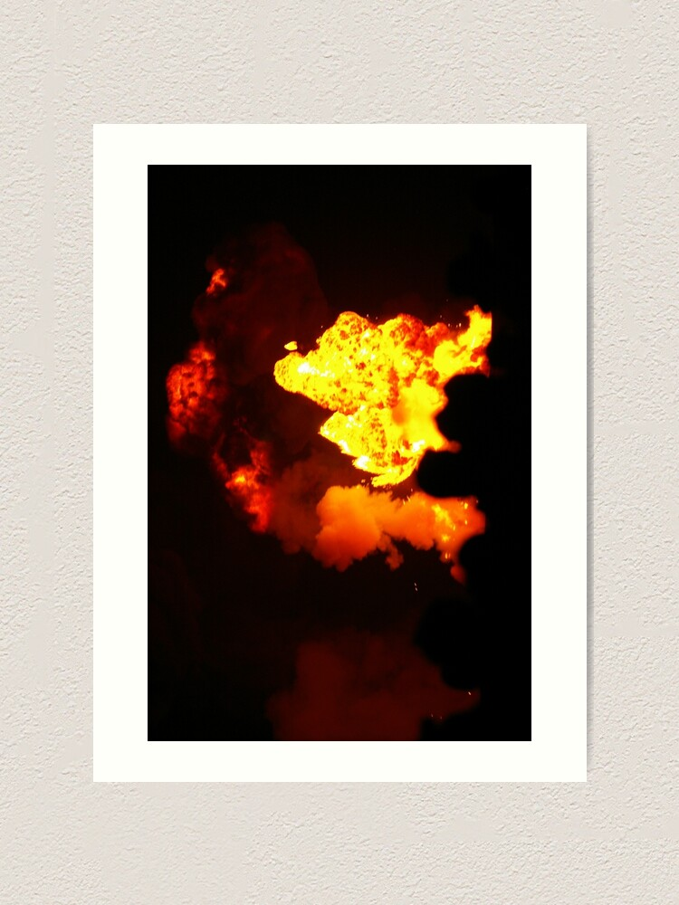 Alternate view of Is That Lava In The Sky? Art Print