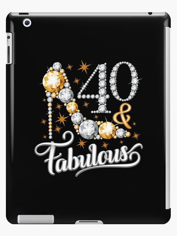 092d86e3 40th Birthday T-shirt. Forty and Fabulous t shirt for ladies, women ...