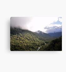 Landscape, New Zealand Fiordland Canvas Print